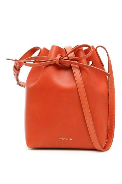 Mansur Gavriel Mini Bucket Bag in brown