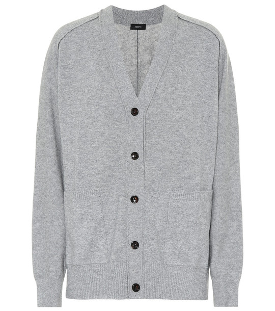 Joseph Cashmere V-neck cardigan in grey
