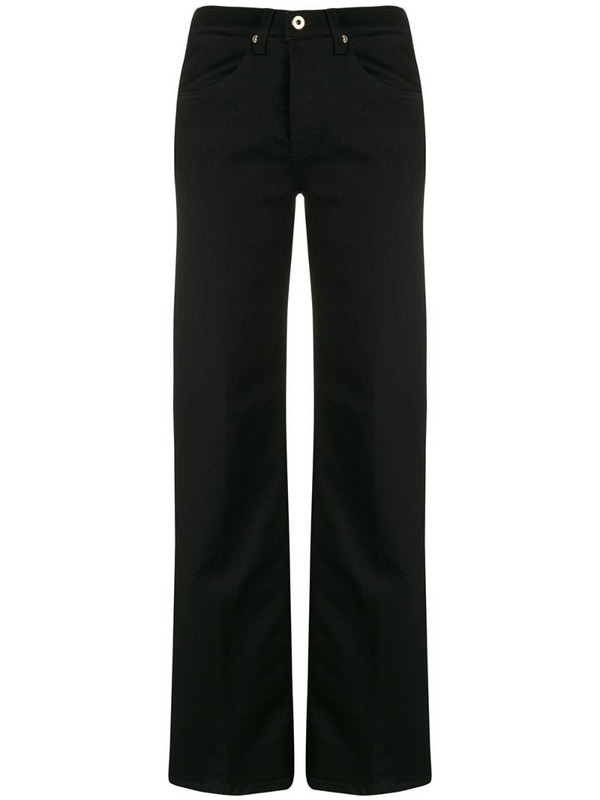 Dondup high-waisted straight-leg jeans in black