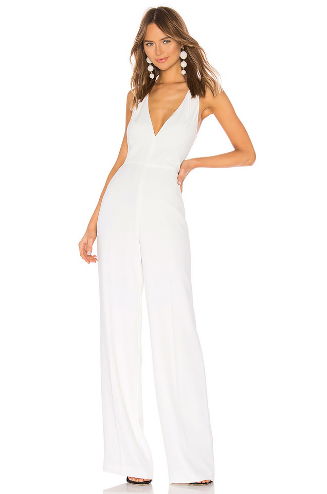 Jay Godfrey Darby Jumpsuit in white