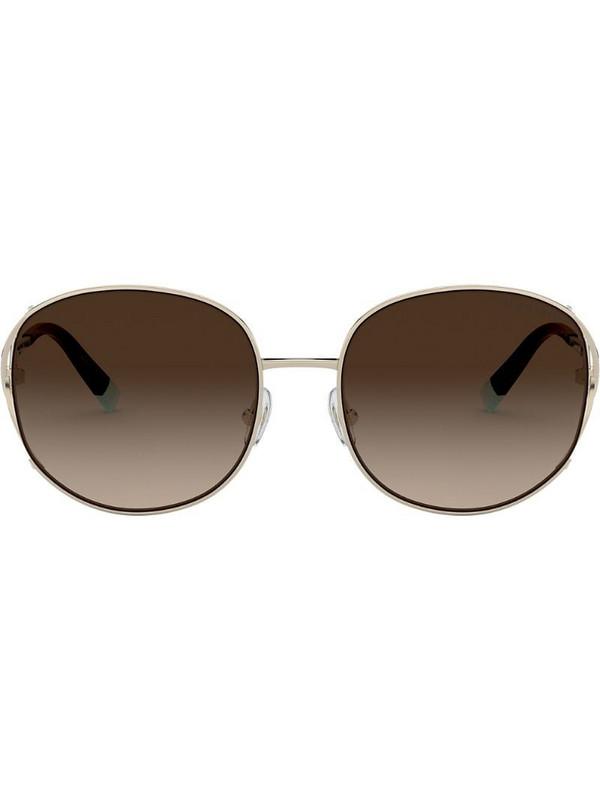 Tiffany & Co Eyewear square oversized sunglasses in gold