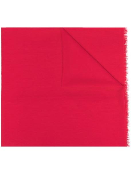 Faliero Sarti fringe-hem wraparound scarf in pink