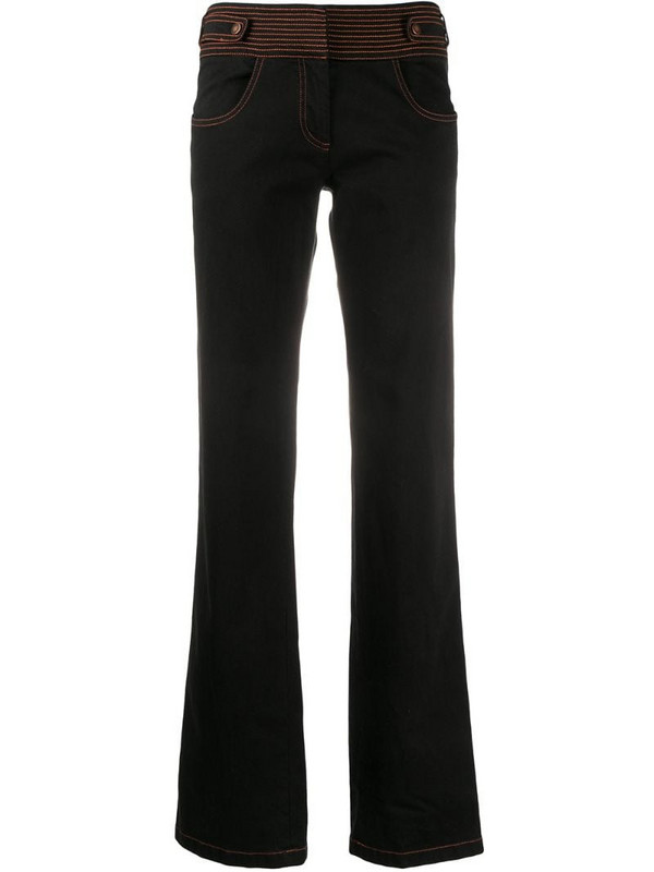 Gianfranco Ferré Pre-Owned 2000s contrast stitch jeans in black