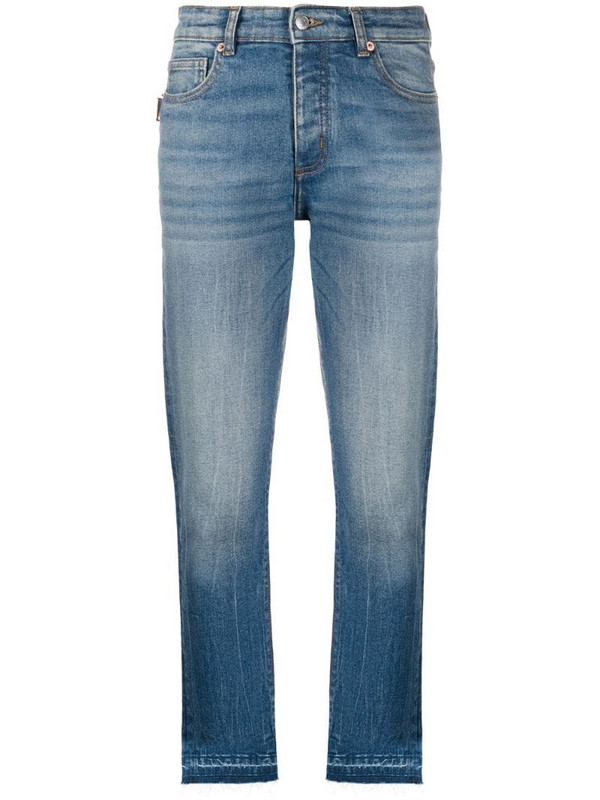 Zadig&Voltaire raw-hem cropped jeans in blue