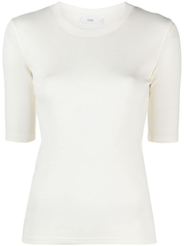 Closed fitted short-sleeved T-shirt in neutrals