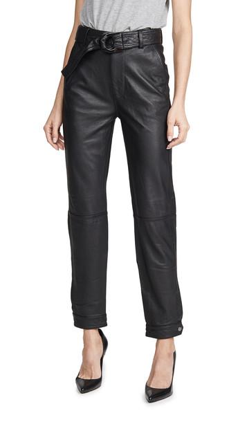 J Brand Jonah High Rise Leather Pants in black