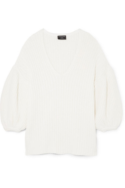 Mother of Pearl - Abela Ribbed Organic Cotton And Wool-blend Sweater - Ivory
