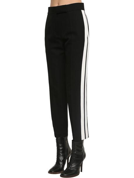 HAIDER ACKERMANN Wool Crepe High Waist Straight Leg Pant in black