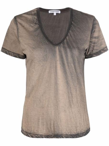 Cotton Citizen washed-effect cotton T-Shirt - Grey