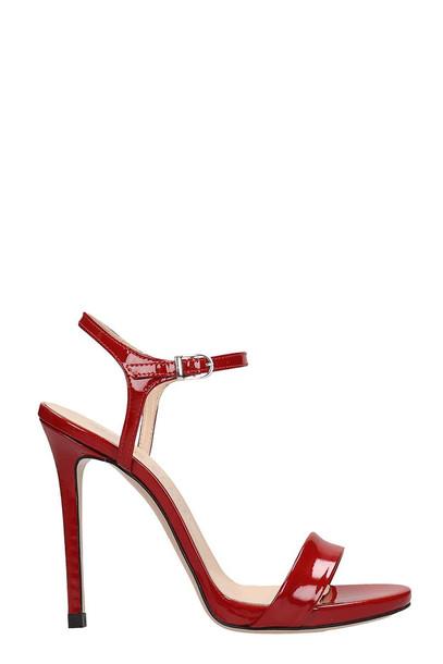 Marc Ellis Red Patent Leather Sandals