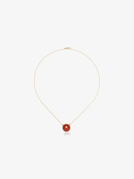 Foundrae 18k yellow gold and diamond Strength necklace