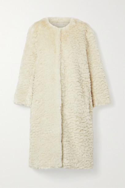 Faz Not Fur - Chilla Shanghai Faux Fur Coat - Cream
