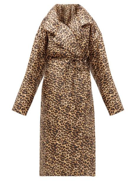 Norma Kamali - Sleeping Bag Leopard-print Coat - Womens - Leopard