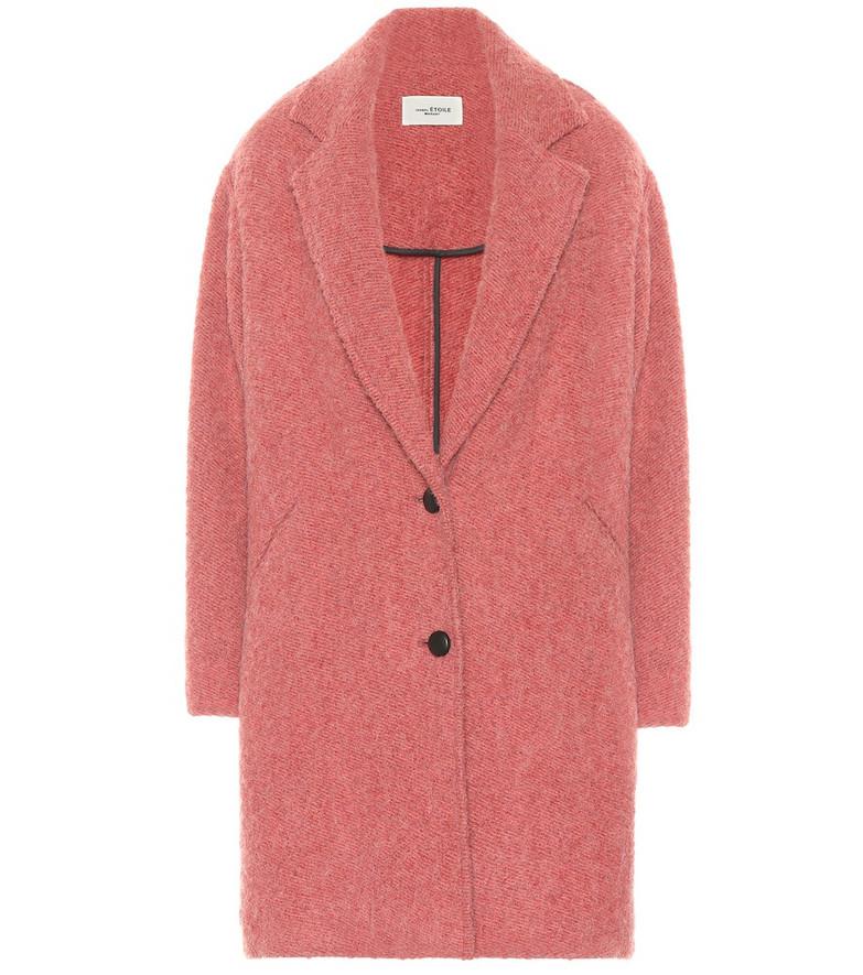 Isabel Marant, Étoile Dante bouclé coat in pink