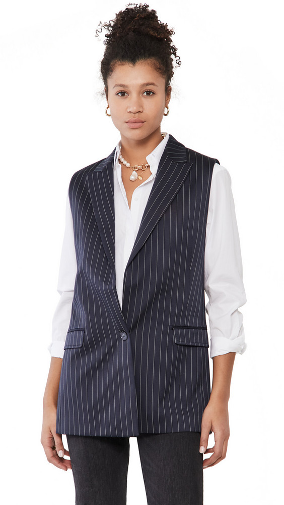 MUNTHE Toada Vest in indigo