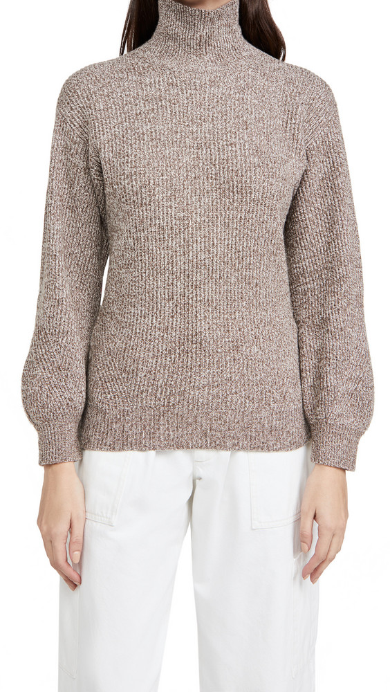 Club Monaco Rib Turtleneck Sweater in neutral