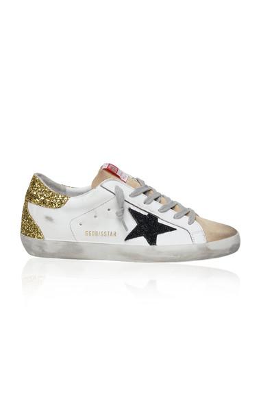 Golden Goose Superstar Glitter-Detail Leather Sneakers in multi