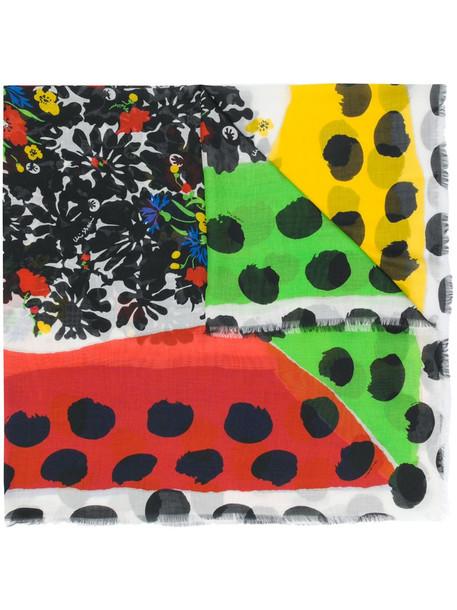 Missoni floral polka dot print scarf in black
