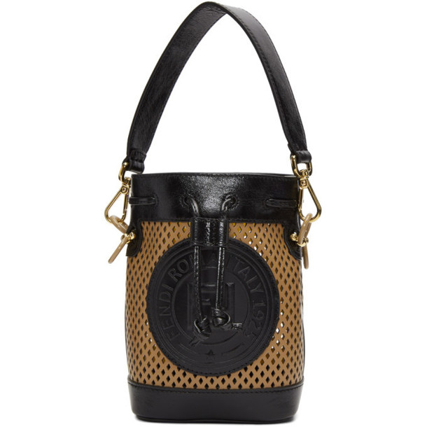 Fendi Tan Mini Mon Tresor Bucket Bag