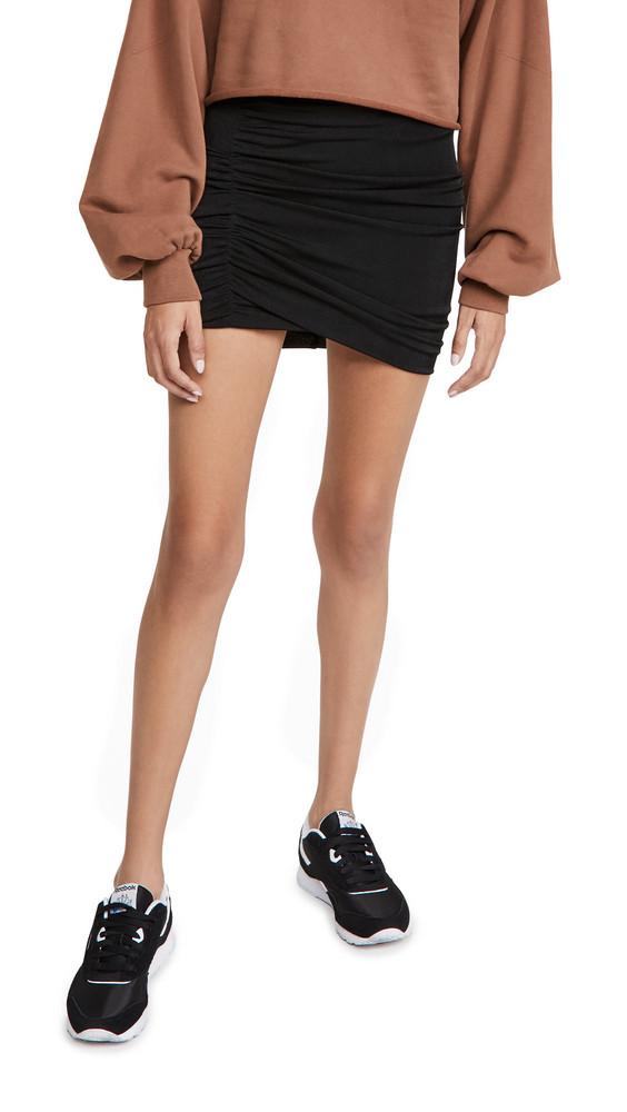 Alix Cyrus Knit Skirt in black