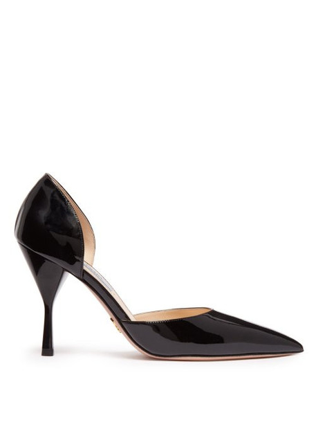 Prada - Patent Leather D'orsay Pumps - Womens - Black
