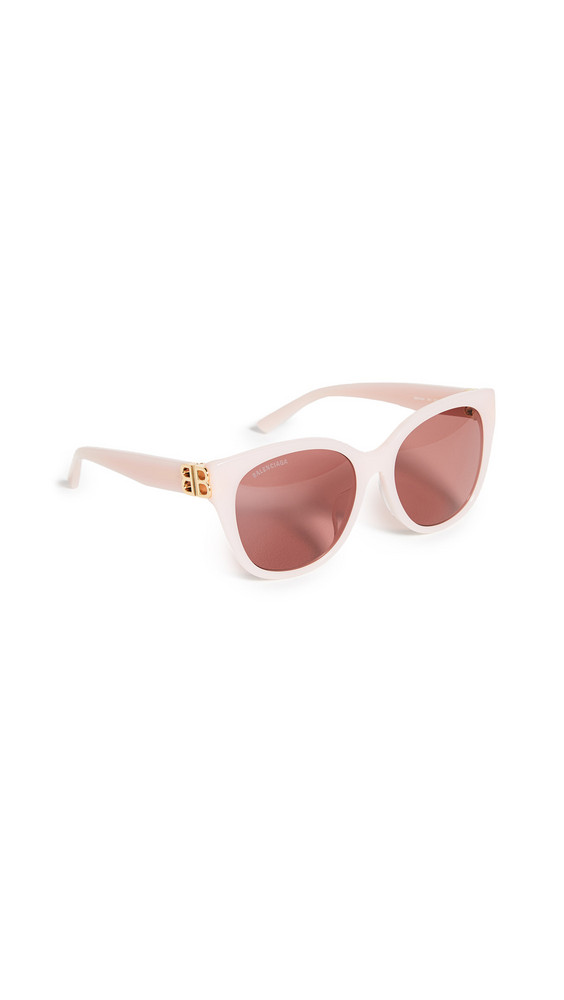 Balenciaga Dynasty Vintage Cat Eye Sunglasses in gold / pink / red