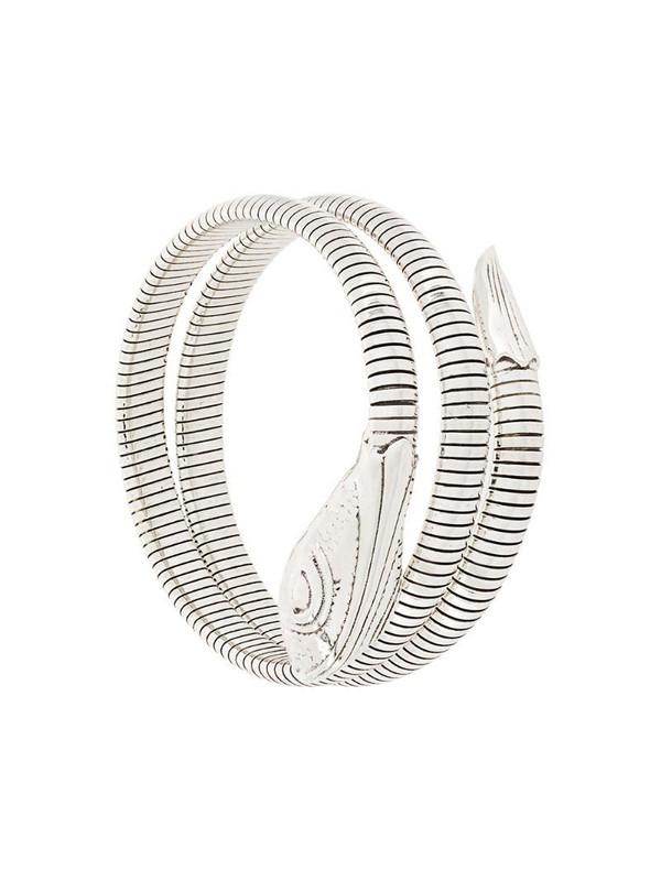 Gas Bijoux Serpent ribbed bracelet in metallic