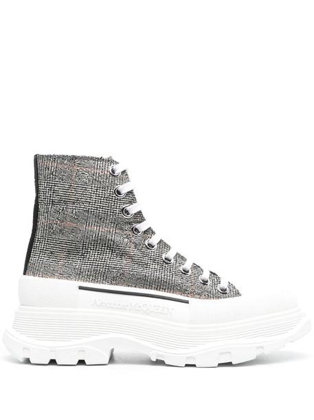 Alexander McQueen Tread Slick check print sneakers in black