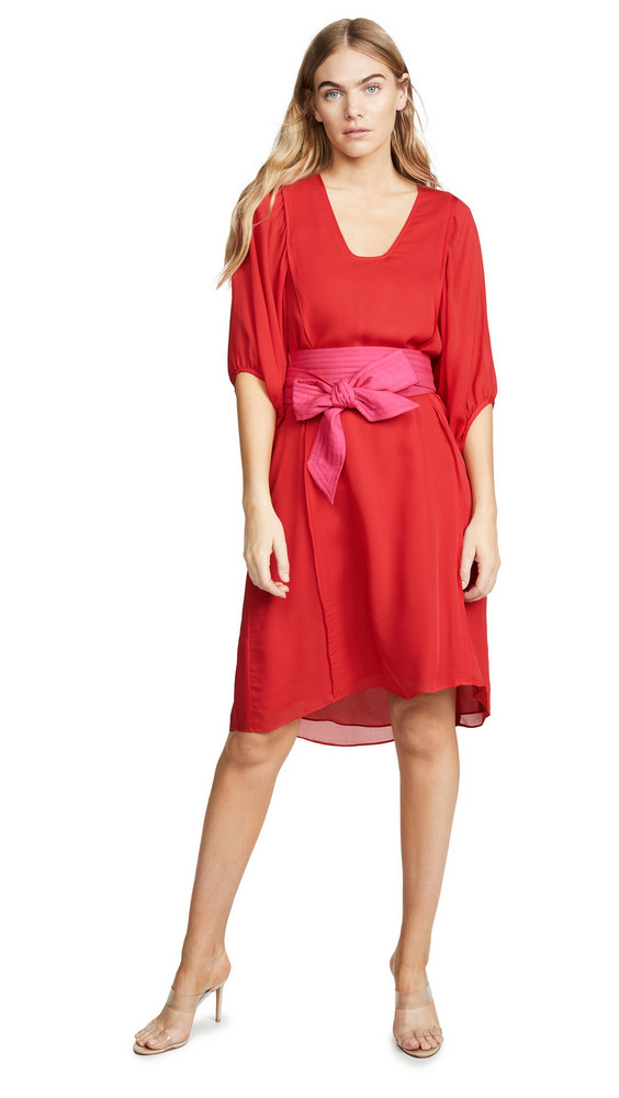 Cynthia Rowley Tinley Silk Dress in red