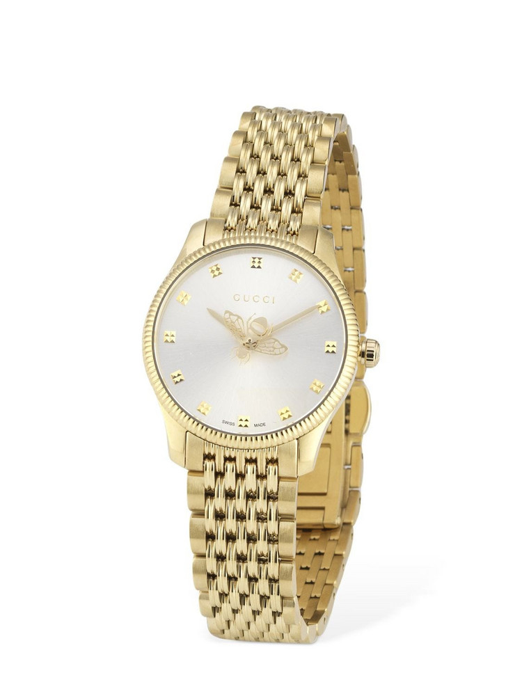 GUCCI 29mm G-timeless Slim Watch in gold