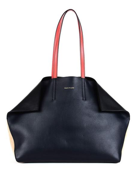 Alexander McQueen Shopper Bag With Logo in black