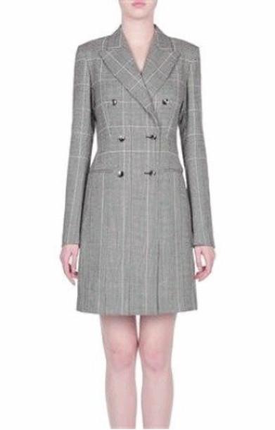 Alberta Ferretti SpecialOrder - Prince of Wales Dress Size: 46 in black