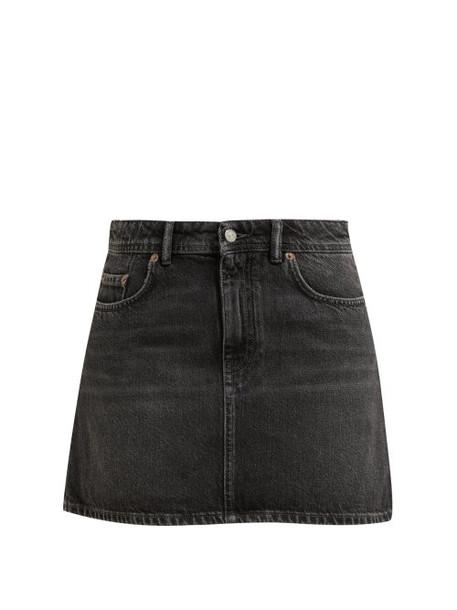 Acne Studios - Caitlyn Denim Mini Skirt - Womens - Black