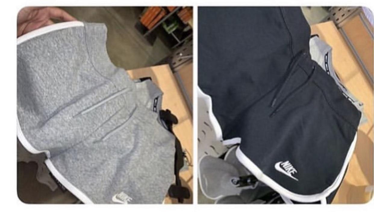 shorts nike grey black
