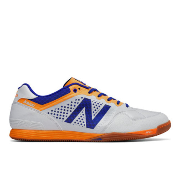 New Balance Audazo Pro Indoor Men's Soccer Shoes - White/Blue/Yellow (MSADOIWB)