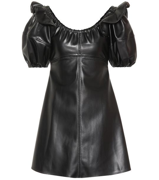 Ellery Valeria puff-sleeve minidress in black
