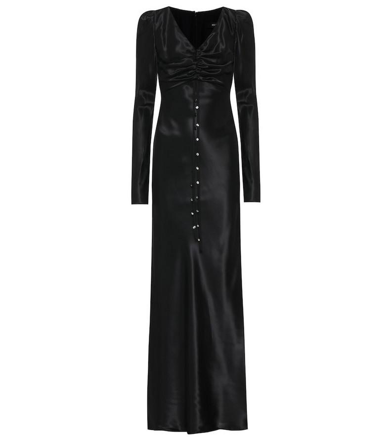 Ellery Elena satin maxi dress in black