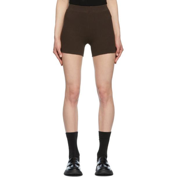 COTTON CITIZEN Brown Ibiza Biker Shorts