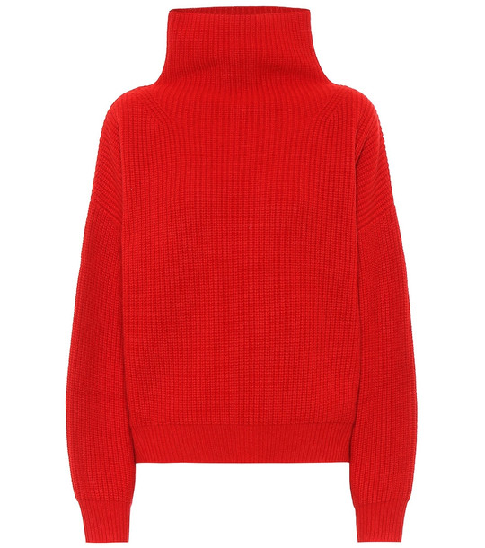 Isabel Marant Brooke cashmere and wool sweater in red