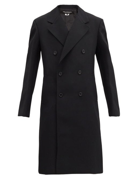 Junya Watanabe - Double-breasted Wool-twill Overcoat - Womens - Black