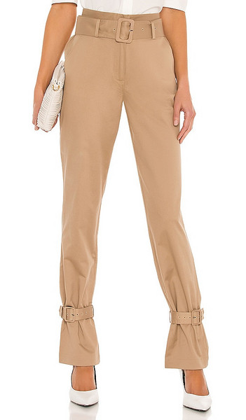 FRAME Cinched Trouser in Tan in sand