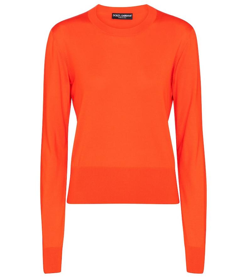 Dolce & Gabbana Silk sweater in orange