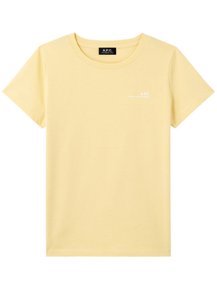 A.P.C. Logo Cotton Jersey T-shirt in yellow