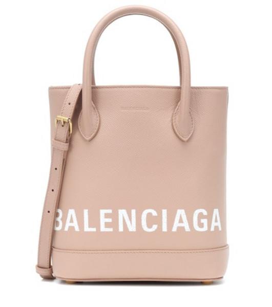 Balenciaga Ville XXS leather tote in beige