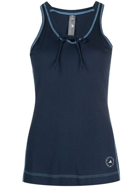 adidas by Stella McCartney ribbed performance tank top in blue