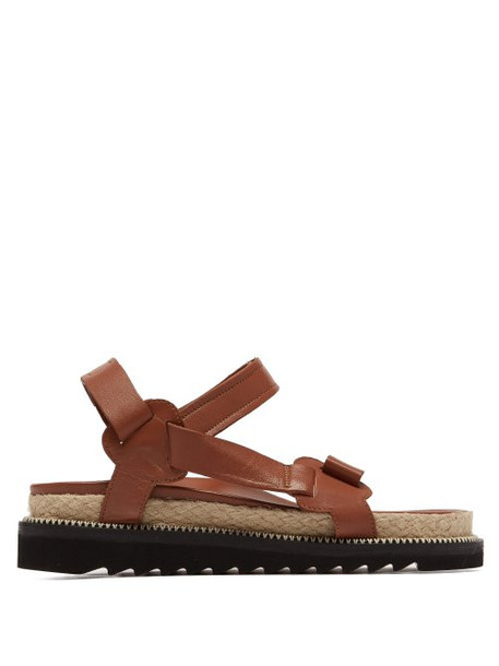 Marques'almeida - Leather Sandals - Womens - Tan