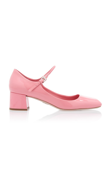 Prada Patent Leather Mary Jane Pumps in pink
