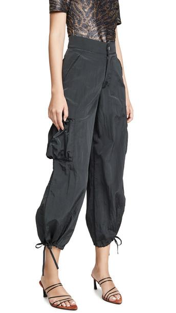 Simon Miller Draw String Cargo Pants in black
