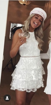 dress,white dress,skater dress,graduation dress
