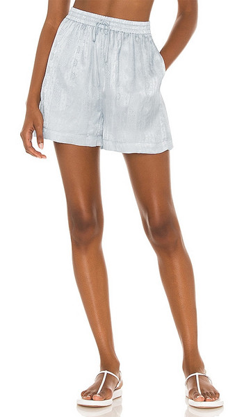 Tell Your Friends Lounge Short in Baby Blue in print